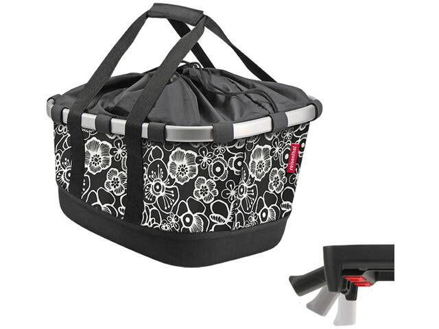 KlickFix Reisenthel Panier de vélo GT Avec Uni Clip, fleur black
